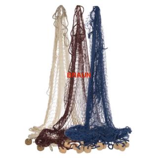 Fischernetz groß 180 x 180 cm braun