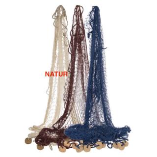 Fischernetz groß 180 x 180 cm natur