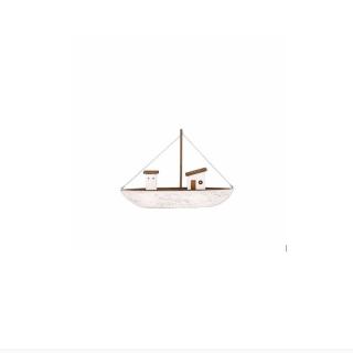 Fischerboot braun-weiß, klein