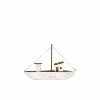 Fischerboot braun-weiß groß