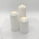 LED Aussenlichter Kerzen Set, 3-tlg. weiß