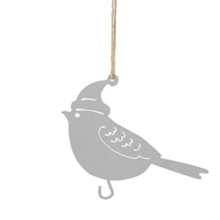 Maisenknödelhalter Vogel zum Hängen, weiß